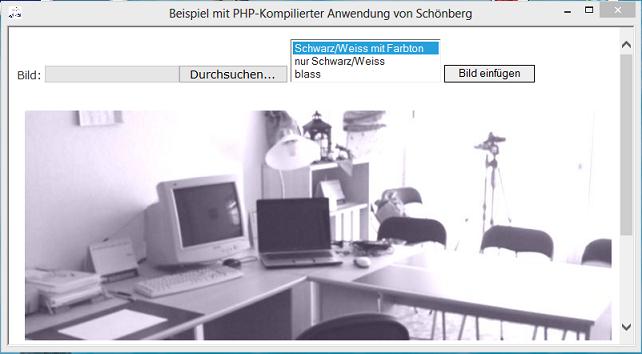 Schoenberg - Beispiel PHP-kompilierte Anwendung
