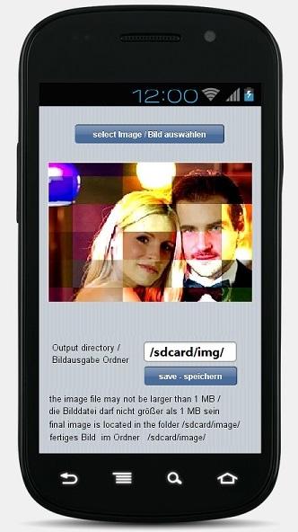Schoenberg - Programmierauftrag, Programmierer - Android App für Mosaik Bild aus Foto