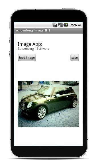 Schoenberg - Programmierauftrag, Programmierer - Android App Foto wie Malbuch dargestellt