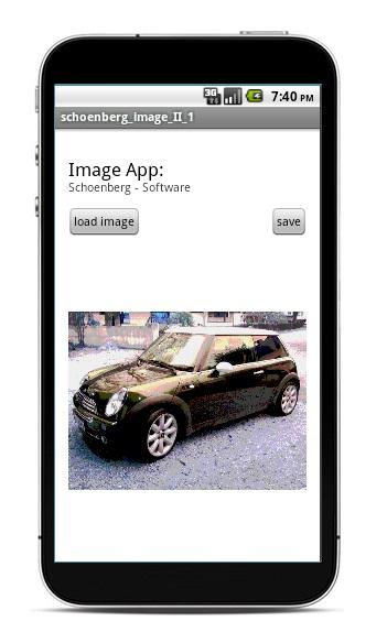 Schoenberg - Programmierauftrag, Programmierer - Android App Foto wie gemalt