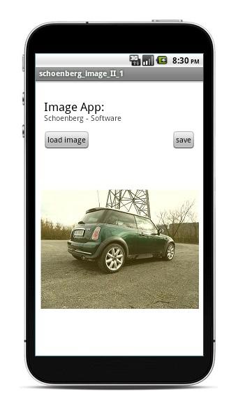 Schoenberg - Programmierauftrag, Programmierer - Android App mit Java