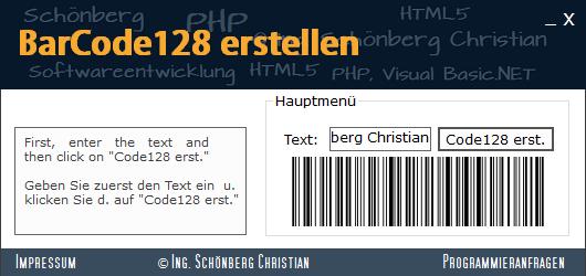 Schoenberg - Programmierauftrag, Programmierer - Barcode128