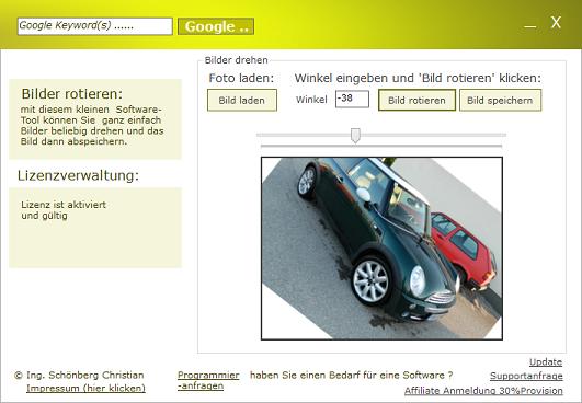 Schoenberg - Programmierauftrag, Programmierer - Bilder rotieren
