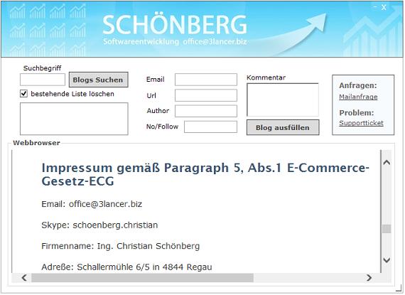 Schoenberg - Programmierauftrag, Programmierer