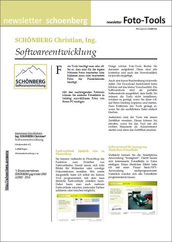 Schoenberg - Programmierauftrag, Programmierer - Ebook mit Foto-Tools