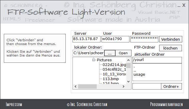 Schoenberg - Programmierauftrag, Programmierer - FTP-Software