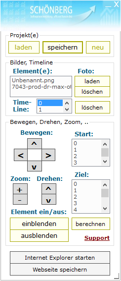 Schoenberg - Programmierauftrag, Programmierer - HTML5 Animationstool