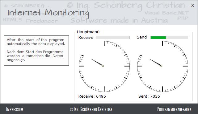 Schoenberg - Programmierauftrag, Programmierer - Internet Traffic ermitteln
