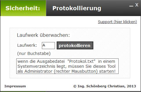 Schoenberg - Programmierauftrag, Programmierer - Laufwerk überwachen
