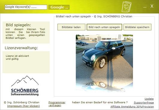 Schoenberg - Programmierauftrag, Programmierer - von Foto einen Bildteil nach unten spiegeln