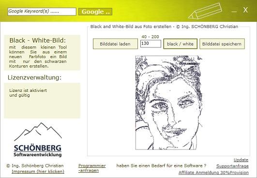Schoenberg - Programmierauftrag, Programmierer - von Foto nur die Konturen darstellen