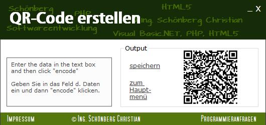 Schoenberg - Programmierauftrag, Programmierer - QR-Code