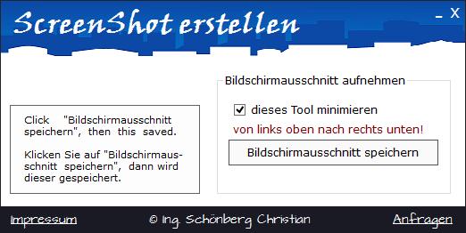 Schoenberg - Programmierauftrag, Programmierer - ScreenShot speichern
