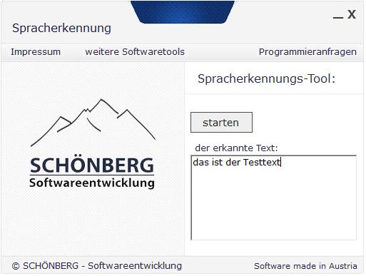 Schoenberg - Programmierauftrag, Programmierer - Spracherkennung