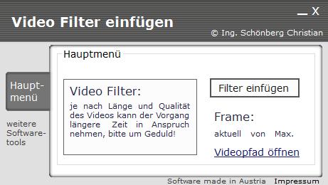 Videofilter selbst programmiert