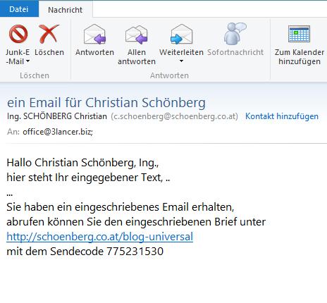 Schoenberg - Programmierauftrag, Programmierer - WordPress-Plugin für eingeschriebene Emails