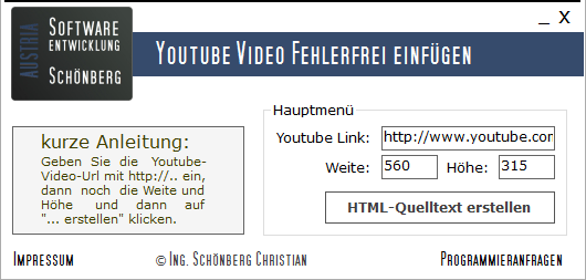 Schoenberg - Programmierauftrag, Programmierer - Youtube Video