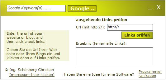 Schoenberg - ausgehende Links überprüfen