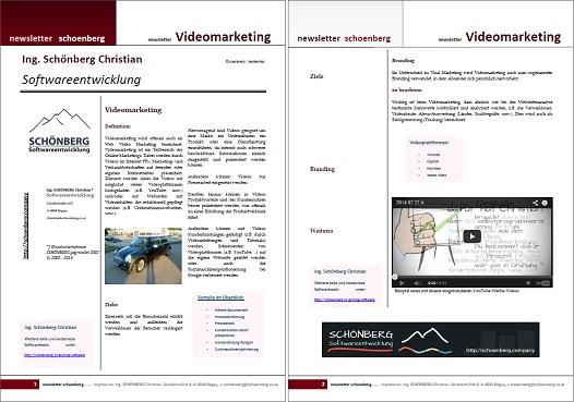 Schoenberg - Programmierauftrag, Programmierer - Ebook Videomarketing, Emailmarketing, usw.