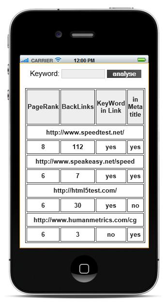 Schoenberg - Programmierauftrag, Programmierer - SEO-iPhone App mit xCode (Objective-C)