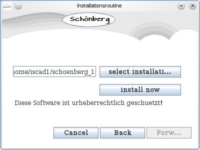 Schoenberg - Programmierauftrag, Programmierer - Installationsroutine mit JAVA programmiert