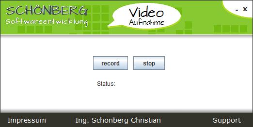 Schoenberg - Programmierauftrag, Programmierer - Videoaufzeichnung vom Bildschirm mit Java programmiert