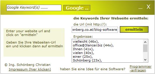 Schoenberg - Programmierauftrag, Programmierer - SEO-Tool Keyword Dichte
