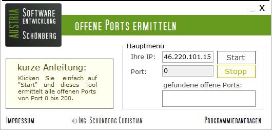 Schoenberg - Programmierauftrag, Programmierer - Portscanner