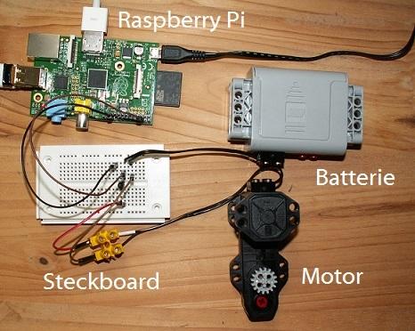 Raspberry Pi Motor steuern  programmiert mit Python