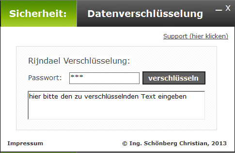 Schoenberg - Programmierauftrag, Programmierer - Datenverschlüsselung nach Rijndael
