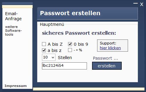Schoenberg - Programmierauftrag, Programmierer - Passworttool