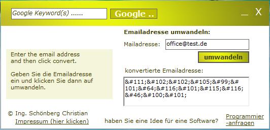 Schoenberg - Email Adresse schützen
